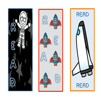 Space Theme Bookmarks & Name Plates