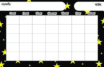 Space Theme Calendar