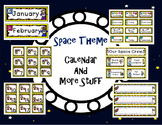 Space Theme - Calendar Cards and More Stuff