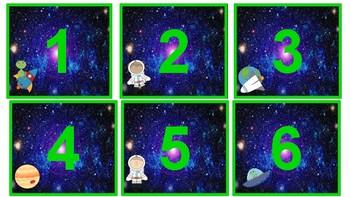 Space Theme Calendar Classroom Decor