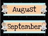 Space Theme Calendar Headers