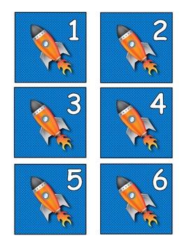 Space Theme Calendar Set