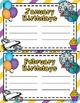 Space Theme - Calendar Set - Classroom Decor