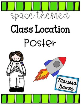 Class Location Chart Space Theme
