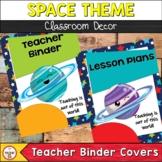 Space Theme Classroom Decor Teacher Binder Covers | Editable