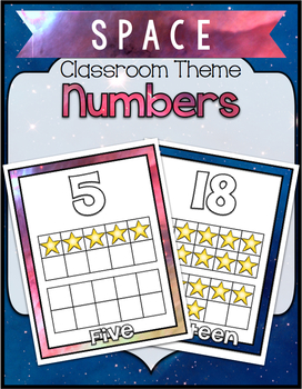 Space Theme Classroom ~Numbers