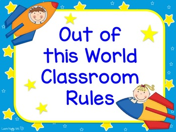 Space Theme Classroom Rules