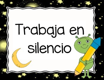 Space Theme - Classroom Rules in Spanish