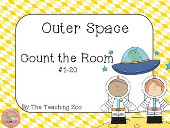 Space Theme Count the Room {1 to 20}