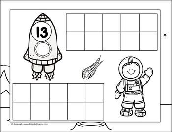 Space Theme Counting Mats and Sheets