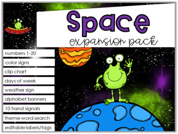 Space Theme Decor {Expansion Pack}