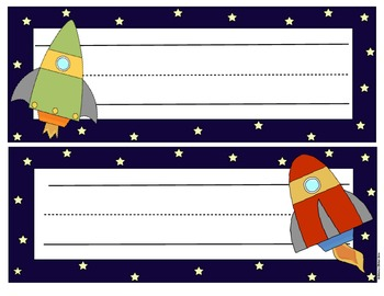 Space Theme Desk Tags            {10 Designs}