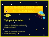Space Theme Desk plates and Name tags
