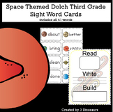 Space Theme Dolch Third Grade Sight Words