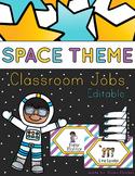 Space Theme - Editable Classroom jobs - Classroom Decor