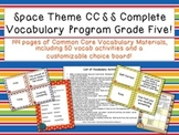 Space Theme Grade Five CCSS Complete Vocabulary Program