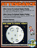 Space Theme Interactive Attendance Printable