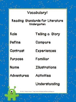 Space Theme Kindergarten CCSS Complete Vocabulary Program
