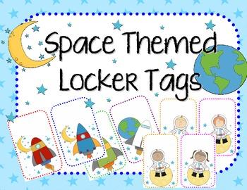 Space Theme Locker Tags