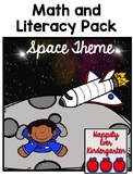 Space Theme Math and Literacy Pack