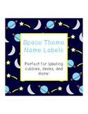 Space Theme Name Labels - Editable!