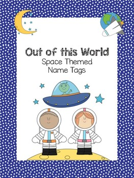 Space Theme Name Tags