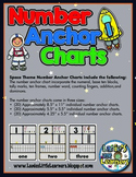 Space Theme Number Anchor Charts {Space Theme Number Printables}