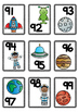 Space Themed Number Cards 1-100
