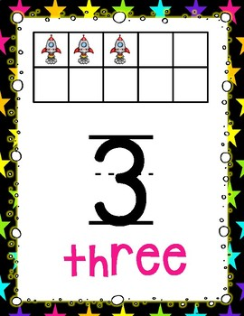 Space Theme Numbers 1-20