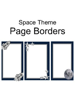 Space Theme Page Borders