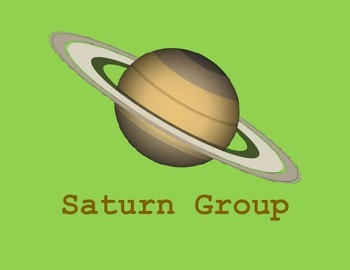 Space Theme Planet Student Groups