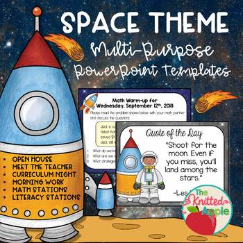 Space theme powerpoint templates by the knitted apple tpt space theme powerpoint templates toneelgroepblik Choice Image