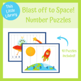 Space Theme Puzzle Pack - Number Order - PreK & Kindergarten