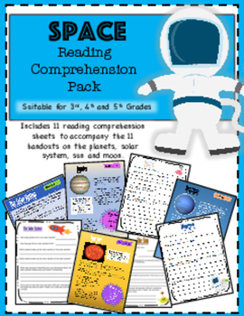 Space Theme Reading Comprehension Pack