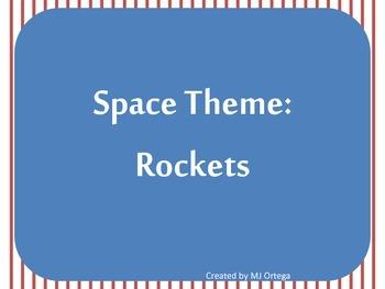 Space Theme Rocket Lables