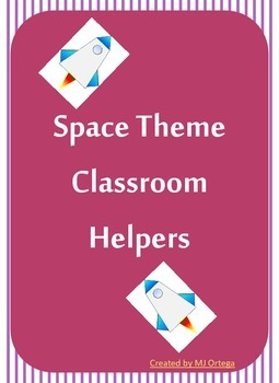 Space Theme Rockets: Classroom Helpers