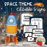 Space Theme Sign Templates {Editable}