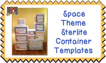 Space Theme Sterilite Container Templates