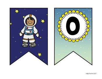 Space Theme Student Work Bulletin Board Set