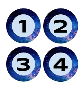 Space Theme Table Numbers