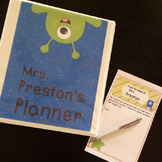 Space Theme Teacher Lesson Planner