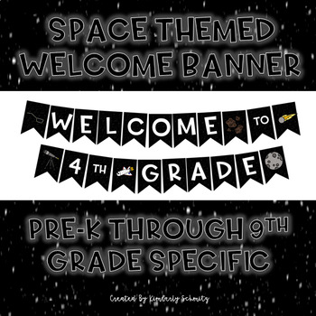 Space Theme Welcome Banner