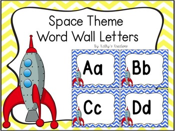 Space Theme Word Wall Letters Dollar Deal