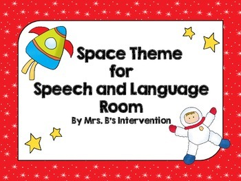 Space Theme for Speech and Language Room