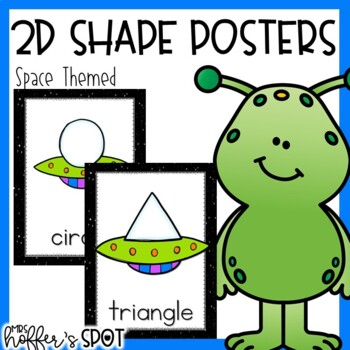 Space Themed 2D Shapes Poster