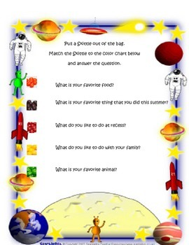 Space Themed Back to School Activities