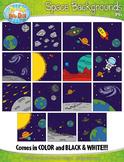 Space Background Scenes Clipart {Zip-A-Dee-Doo-Dah Designs}
