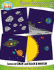 Space Themed Background Scenes Clip Art Set — Includes 30