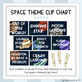 Space Themed Behavior Clip Chart