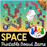 Space Board Games and Cards - Differentiated Card Sets Included